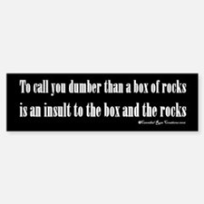 Box Of Rocks Bumper Bumper Bumper Sticker