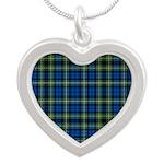 Tartan - Campbell of Argyll Silver Heart Necklace