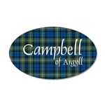 Tartan - Campbell of Argyll 20x12 Oval Wall Decal