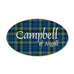 Tartan - Campbell of Argyll 35x21 Oval Wall Decal