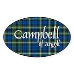 Tartan - Campbell of Argyll Sticker (Oval 10 pk)