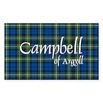 Tartan - Campbell of Argyll Sticker (Rectangle)
