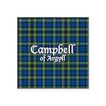 Tartan - Campbell of Argyll Square Sticker 3