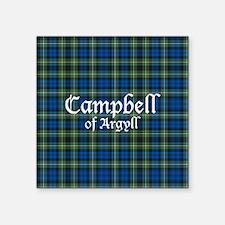"Tartan - Campbell of Argyll Square Sticker 3"" x 3"""