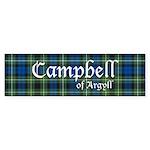 Tartan - Campbell of Argyll Sticker (Bumper 10 pk)