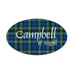 Tartan - Campbell of Argyll Oval Car Magnet