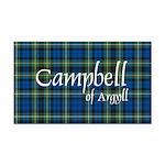 Tartan - Campbell of Argyll Rectangle Car Magnet