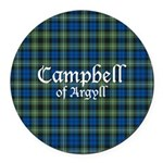 Tartan - Campbell of Argyll Round Car Magnet