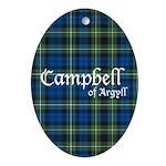 Tartan - Campbell of Argyll Ornament (Oval)