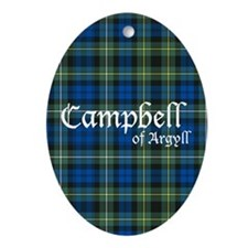 Tartan - Campbell of Argyll Ornament (Oval)