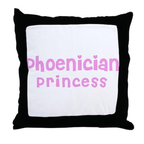 Phoenician Princess Throw Pillow