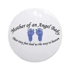 Mother of Angel Baby Boy Ornament (Round)