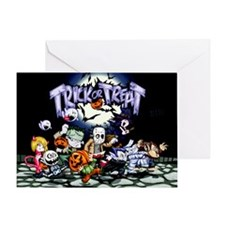 Trick Or Treat Halloween Monsters Greeting Cards