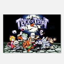Trick Or Treat Halloween Monsters Postcards (Packa