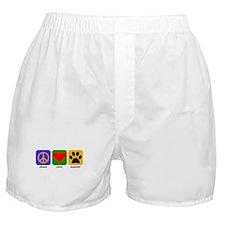 Peace Love Mastiff Boxer Shorts