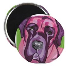 Pink & Purple Bull Mastiff Magnet