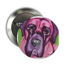 "Pink & Purple Bull Mastiff 2.25"" Button"