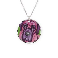 Pink & Purple Bull Mastiff Necklace