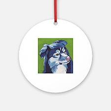 Blue Aussie Round Ornament