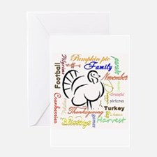 Thanksgiving words Greeting Cards