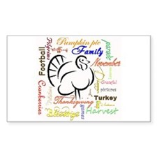 Thanksgiving words Decal