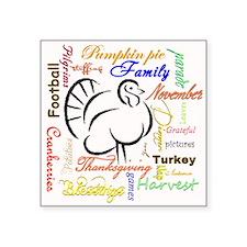 Thanksgiving words Sticker