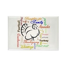 Thanksgiving words Magnets