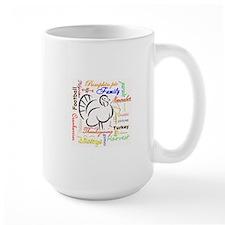 Thanksgiving words Mugs