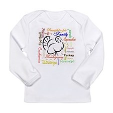 Thanksgiving words Long Sleeve T-Shirt