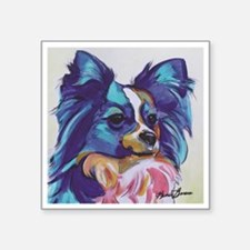 "Papillon - Gizmo Square Sticker 3"" x 3"""