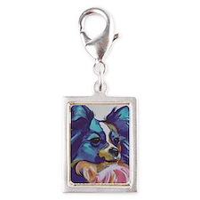 Papillon - Gizmo Silver Portrait Charm