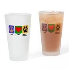 Peace Love Labrador Retriever Drinking Glass