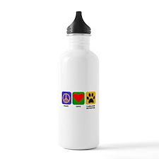 Peace Love Labrador Retriever Water Bottle