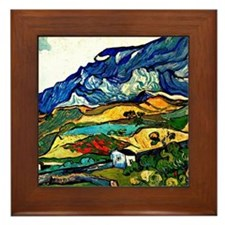 Van Gogh - Les Alpilles Mountain Lands Framed Tile