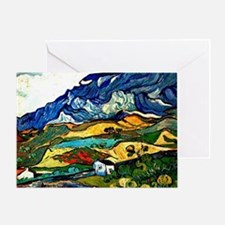 Van Gogh - Les Alpilles Mountain Lan Greeting Card
