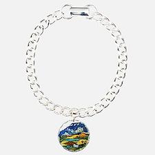 Van Gogh - Les Alpilles  Charm Bracelet, One Charm