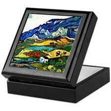 Van Gogh - Les Alpilles Mountain Land Keepsake Box