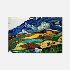 Van Gogh - Les Alpilles Mountain  Rectangle Magnet