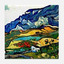 Van Gogh - Les Alpilles Mountain Land Tile Coaster