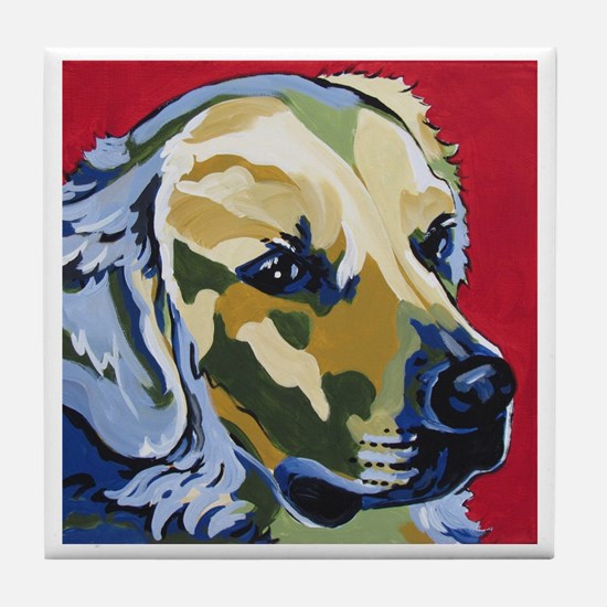 Golden Retriever - James Tile Coaster