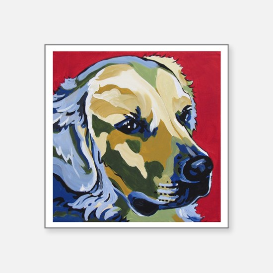 """Golden Retriever - James Square Sticker 3"""" x 3"""""""
