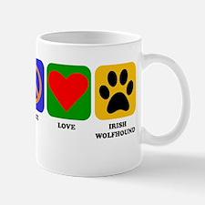 Peace Love Irish Wolfhound Mugs