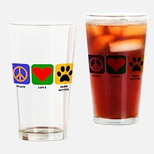 Peace Love Irish Setter Drinking Glass