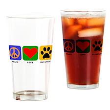 Peace Love Havanese Drinking Glass