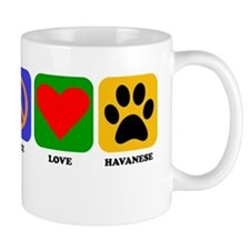 Peace Love Havanese Mugs