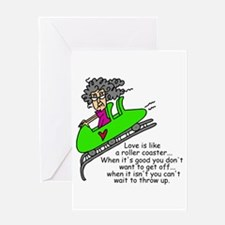 Love is a Roller Coaster Greeting Card