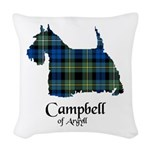 Terrier - Campbell of Argyll Woven Throw Pillow