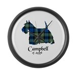 Terrier - Campbell of Argyll Large Wall Clock