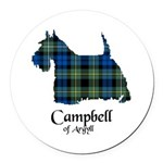 Terrier - Campbell of Argyll Round Car Magnet