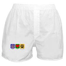 Peace Love Goldendoodle Boxer Shorts
